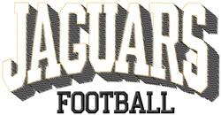 Jaguars Football embroidery design