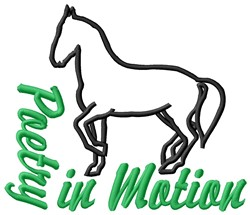 Horse Poetry embroidery design