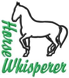 Horse Whisperer embroidery design