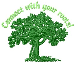 Connect Roots embroidery design
