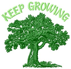 Keep Growing embroidery design