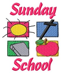 Sunday School embroidery design