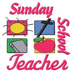 Sunday School Teacher embroidery design