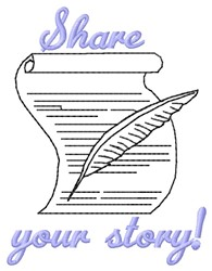 Share Story embroidery design