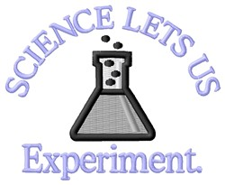 Science Experiment embroidery design