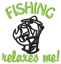 Fishing Relaxes embroidery design