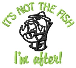 Not The Fish embroidery design