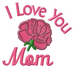 Love Mom embroidery design