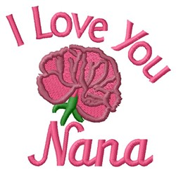 Love Nana embroidery design