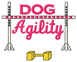Dog Agility embroidery design