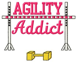 Agility Addict embroidery design