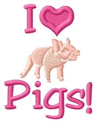 Love Pigs embroidery design