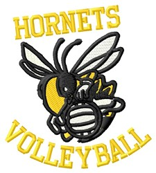 Hornets Volleyball embroidery design