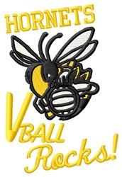 Hornets V Ball embroidery design
