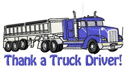 Thank Truck Driver embroidery design