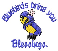Bluebird Blessings embroidery design