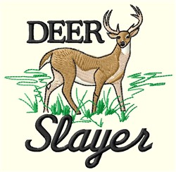 Deer Slayer embroidery design