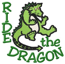 Ride Dragon embroidery design