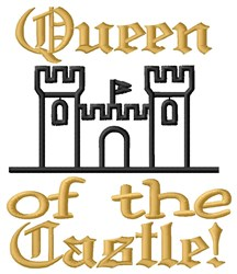 Castle Queen embroidery design