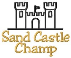 Sand Castle Champ embroidery design