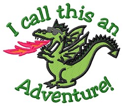 Adventure Of A Dragon embroidery design