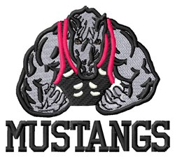 Mustang Fighter embroidery design