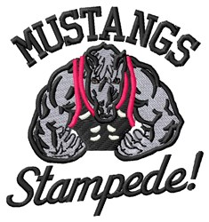 Mustang Stampede embroidery design