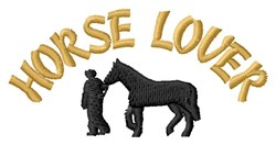 Horse Loving Man embroidery design