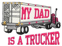 Truck Daddy embroidery design