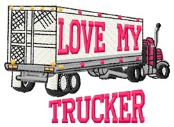 Truckers Love embroidery design