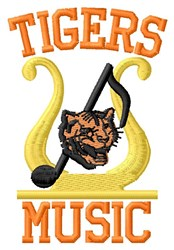 Tigers Music embroidery design
