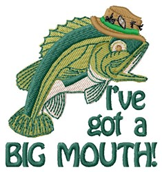 Big Mouth Fish embroidery design