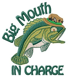 Fish In Charge embroidery design