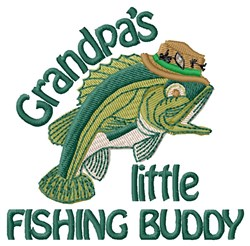 Grandpas Fishing Buddy embroidery design