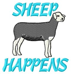 Happenings Of Sheep embroidery design