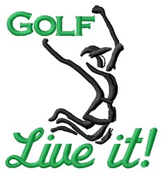 Live Golf embroidery design