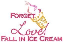 Love Ice Cream embroidery design