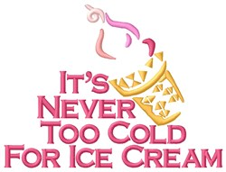 Cold Ice Cream embroidery design