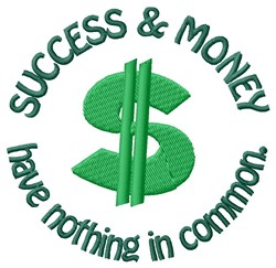Success & Money embroidery design
