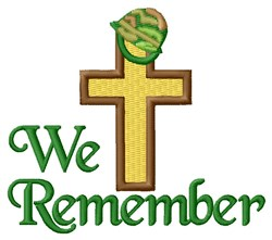 Remember Holy Cross embroidery design