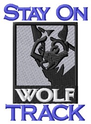 Wolf Track embroidery design