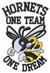 Hornet Team embroidery design