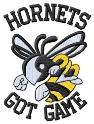 Hornets Got Game embroidery design