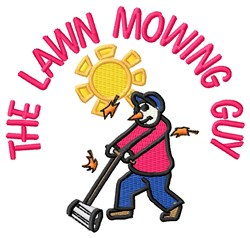 Mowing Guy embroidery design