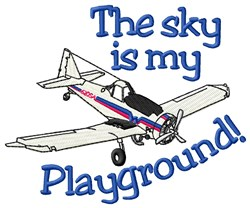 Aircraft Playground embroidery design