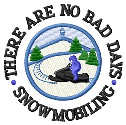 Snowmobiling Days embroidery design