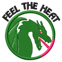 Feel Dragon Heat embroidery design