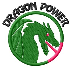 Dragon Power embroidery design