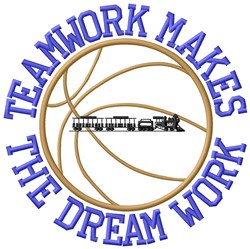 Basketball Teamwork embroidery design