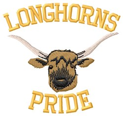 Longhorns Pride embroidery design